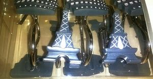 Blue Eiffel tower shower clamps